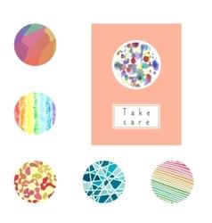 Set of card labels for brochures flyers vector image
