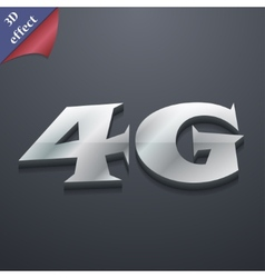 4G icon symbol 3D style Trendy modern design with vector