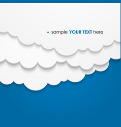 Abstract background composed white paper clouds vector