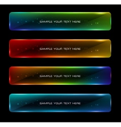 Abstract colorful glowing options vector