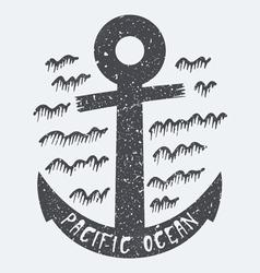 Anchor Pacific ocean vector