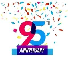 Anniversary design 95th icon anniversary vector image