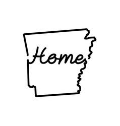 Arkansas us state outline map vector