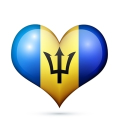 Barbados Heart flag icon vector image