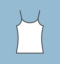 blank camisole icon filled color outline editable vector image