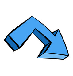 Blue arrow icon icon cartoon vector