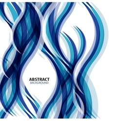 Blue modern geometrical wave abstract background vector