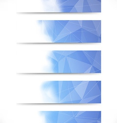 Bright blue crystal structure business cards vector image