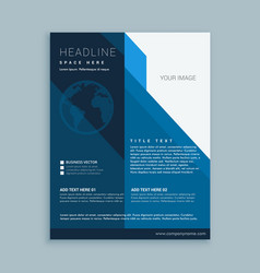 Business flyer template with earth icon vector