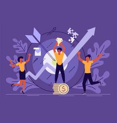 Business success concept vector