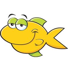 Cartoon Smiling Fish vector image
