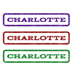 Charlotte watermark stamp vector