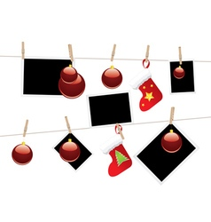 Christmas Stockings on Rope2 vector