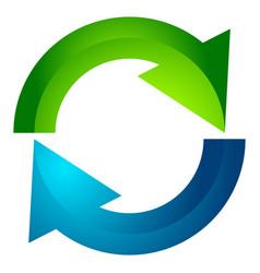 Circular arrow circle arrow icon rotation restart vector