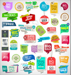 collection colorful sale stickers and tags 01 vector image