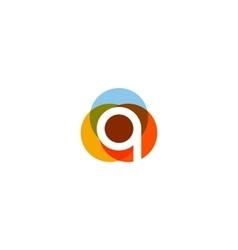 Color letter q logo icon design vector