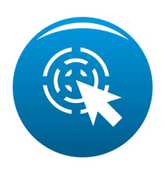 Cursor interactive icon blue vector
