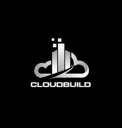 data clouds logo icon symbol vector image