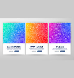 Data science flyer concepts vector