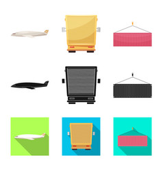 design goods and cargo symbol set of vector image