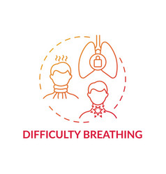 Difficulty breathing concept icon vector