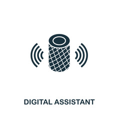 Digital assistant icon monochrome style icon vector