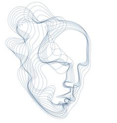 Digital soul of machine artificial intelligence vector