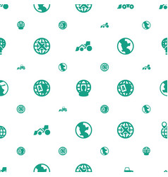 Earth icons pattern seamless white background vector