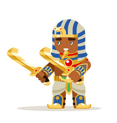 Egyptian warrior fantasy action rpg game layered vector