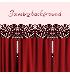 Embroidery red background vector
