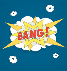Explosion bang comics vector