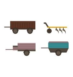 Farm plow vector
