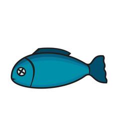 fish design background vector image