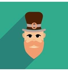 Flat web icon with long shadow Irish man vector