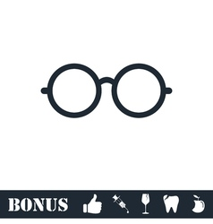 Glasses icon flat vector image