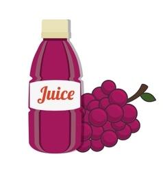 Grape bottle juice vector