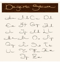 hand drawn alphabet in arabic style vector image