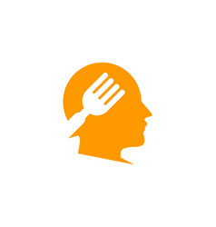 Head food logo icon design vector