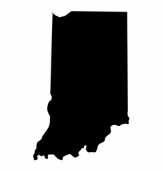 indiana state silhouette map vector image