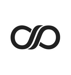 infinite black symbol logo design vector image