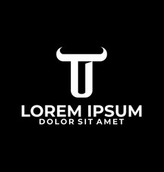 Initial letter t logo template with modern bulhorn vector