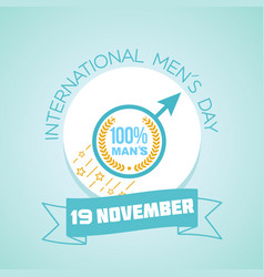 International men s day holiday vector