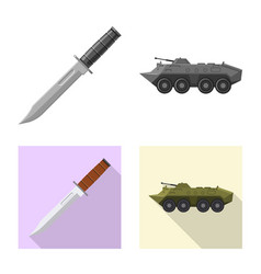 isolated object of weapon and gun icon set of vector image