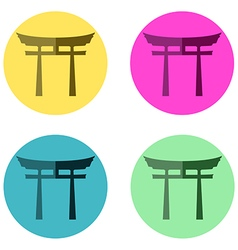 Japan Gate flat vector image