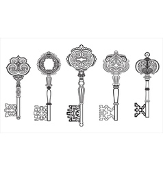 KEYS Antique Collection Set 1 vector image