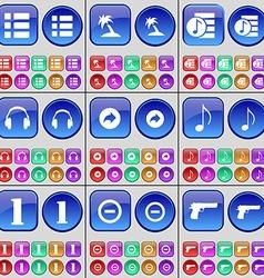 List Palm Playlist Headphones Back Note One Minus vector