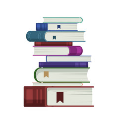 many book lay on isolated white background vector image