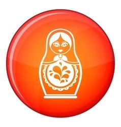 Matryoshka icon flat style vector image