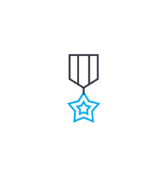 Medal of honor thin line stroke icon medal vector