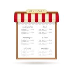 Menu cafe design vector